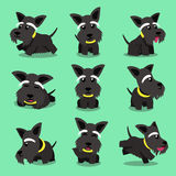 Cartoon character scottish terrier dog poses Stock Photo