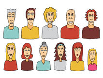 Cartoon character set / Vector people icon Stock Photos