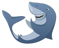 Cartoon Character Shark Stock Image