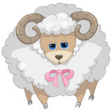 Cartoon Character Sheep Stock Photography