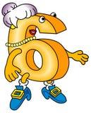 Cartoon character of six Stock Photo