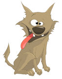 Cartoon Character Sly Dog. Isolated on White Background. Vector Royalty Free Stock Photo