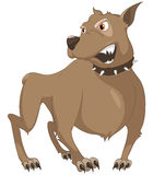 Cartoon Character Sly Dog. Isolated on White Background. Vector Royalty Free Stock Photography