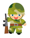 Cartoon character - soldier Royalty Free Stock Image