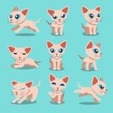 Cartoon character sphynx cat poses Stock Photo