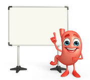 Cartoon Character of stomach with display board Stock Images