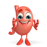 Cartoon Character of stomach happy pose Royalty Free Stock Photos