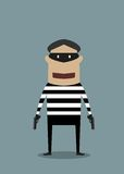 Cartoon character thief or robber Stock Images