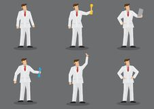 Man in White Suit Vector Fashion Character Set royalty free illustration