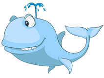 Cartoon Character Whale Stock Photo