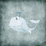 Cartoon Character Whale Stock Photography