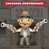 Cartoon character Wild West - cheerful southerner Royalty Free Stock Photo