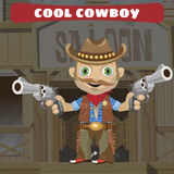 Cartoon character of Wild West - cool cowboy Royalty Free Stock Photos