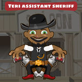 Cartoon character in Wild West - sheriff assistant Royalty Free Stock Image