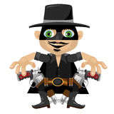 Cartoon character in Wild West style, robber Royalty Free Stock Image