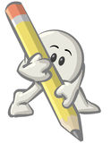 Cartoon Character With Pencil Stock Photography