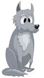 Cartoon Character Wolf Royalty Free Stock Images
