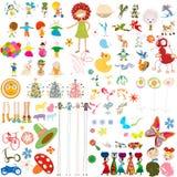 Cartoon characters Stock Photography