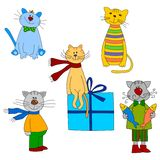 Cartoon characters. Royalty Free Stock Photography
