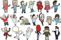 Cartoon characters  Royalty Free Stock Photography