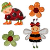 Cartoon characters. Artwork. Colorful handmade illustrations for children Stock Photo