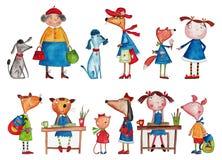 Cartoon characters Royalty Free Stock Photo