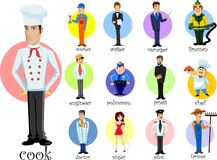 Cartoon characters of different professions,vector Royalty Free Stock Photography