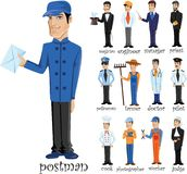 Cartoon characters of different professions,vector Royalty Free Stock Image