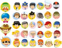 Cartoon  characters of different professions,vector Royalty Free Stock Photo