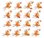 Cartoon Characters Fish for you Design and Computer Game. Storyboard Royalty Free Stock Image