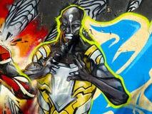 Cartoon characters graffiti Royalty Free Stock Image