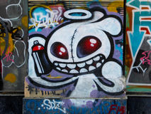 Cartoon characters graffiti Royalty Free Stock Image