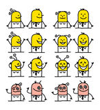 Cartoon characters - happiness Stock Image