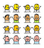 Cartoon characters - happy people Stock Photography