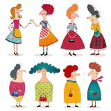 Cartoon characters over white. Colorful graphic illustration for children Royalty Free Stock Images