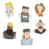 Cartoon characters people set vector illustration. Royalty Free Stock Photos
