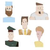 Cartoon characters people set vector illustration. Stock Image