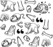 Cartoon characters seamless pattern Royalty Free Stock Images