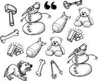 Cartoon characters seamless pattern Stock Photography