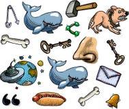 Cartoon characters seamless pattern Stock Photo