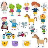 Cartoon characters set Royalty Free Stock Photo