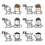 Cartoon Characters Set 1 - Countries and Tradition Royalty Free Stock Photography