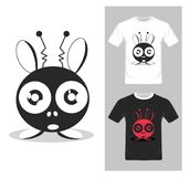 Cartoon characters vector - T-shirt graphic design. Illustration Stock Images