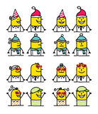 Cartoon characters - winter & summer royalty free illustration