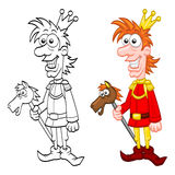 Cartoon charming prince Royalty Free Stock Image