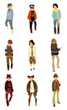 Cartoon charming young man icon Stock Images
