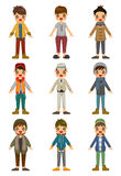 Cartoon charming young man icon Stock Photography