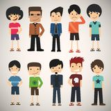 Cartoon charming young man icon Stock Photo