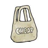 Cartoon cheap bag Royalty Free Stock Photography