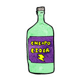 Cartoon cheap cider Royalty Free Stock Photography